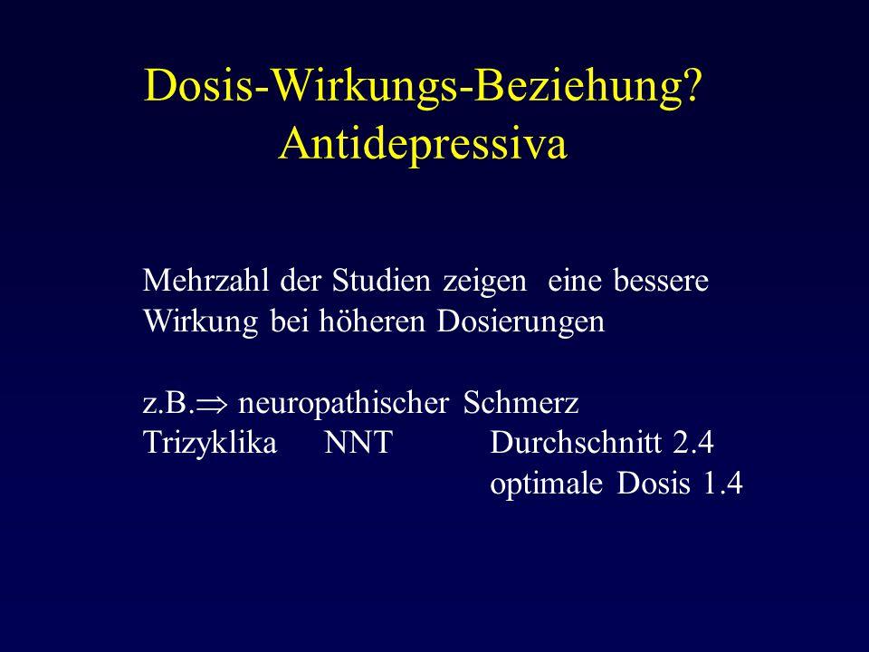 Dosis-Wirkungs-Beziehung Antidepressiva