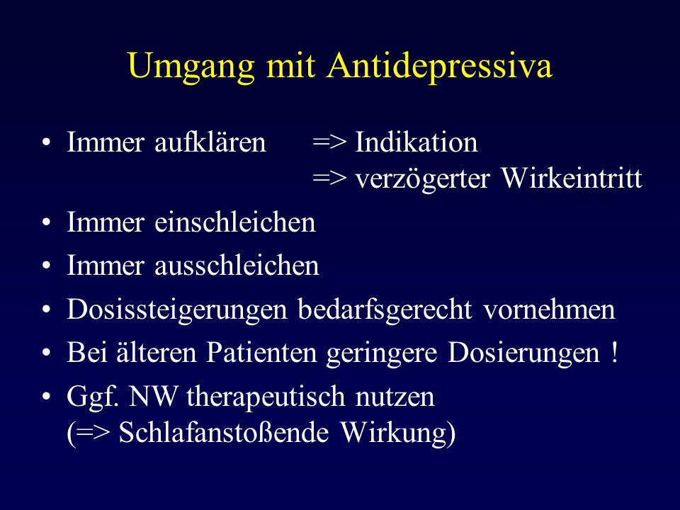 Umgang mit Antidepressiva