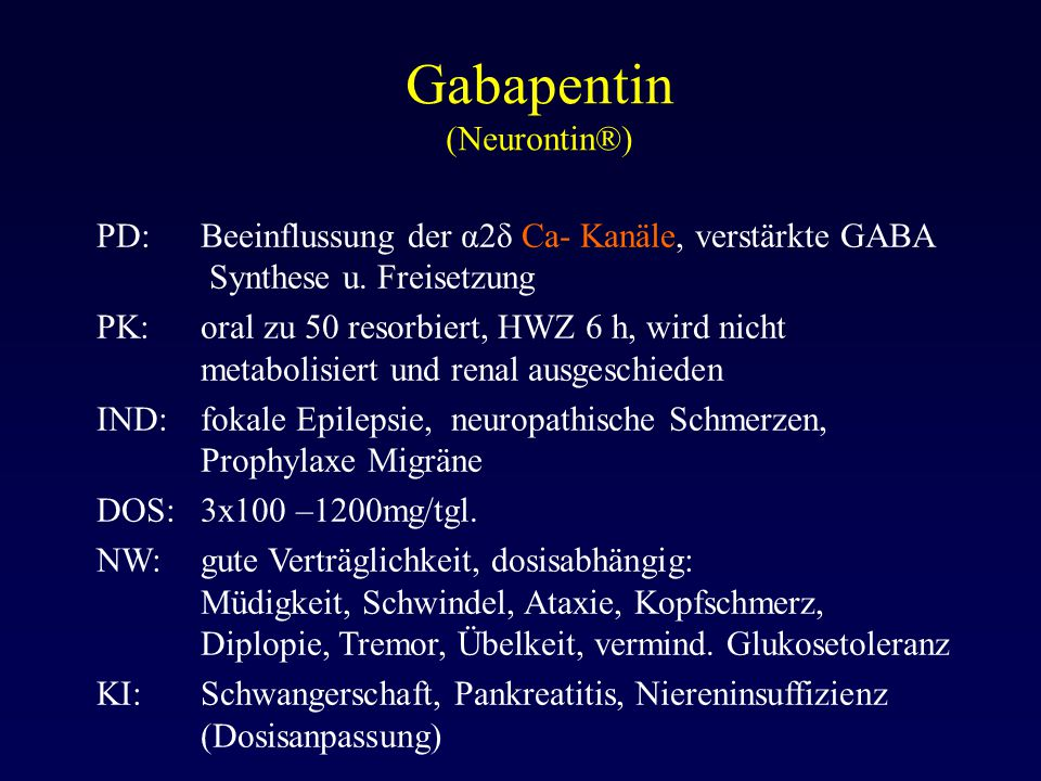 Gabapentin (Neurontin®)