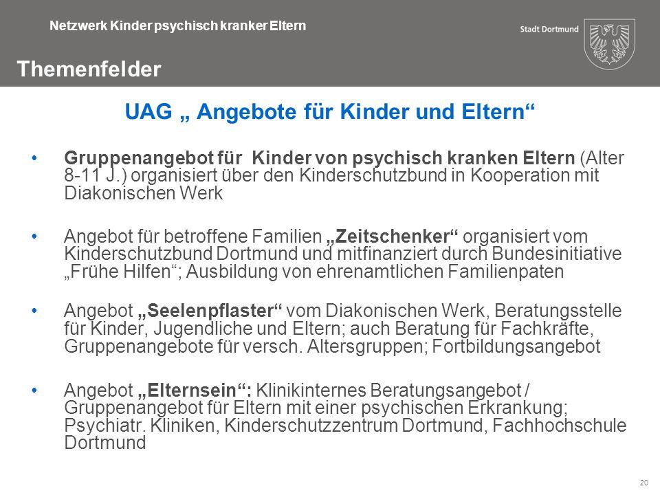 """UAG """" Angebote für Kinder und Eltern"""