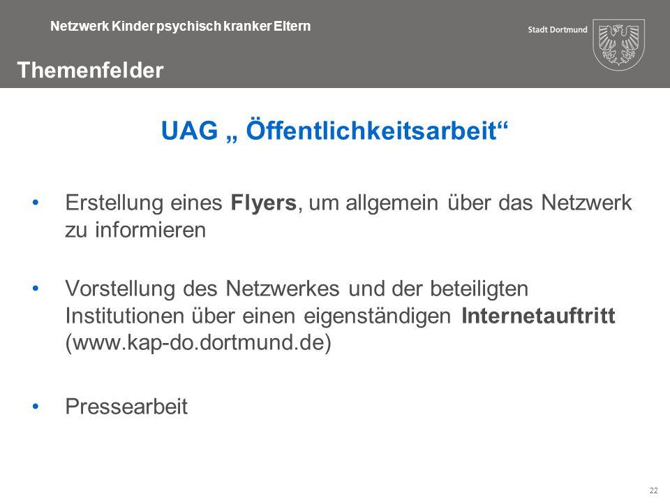 """UAG """" Öffentlichkeitsarbeit"""