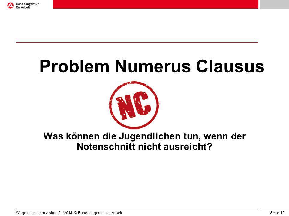 Problem Numerus Clausus