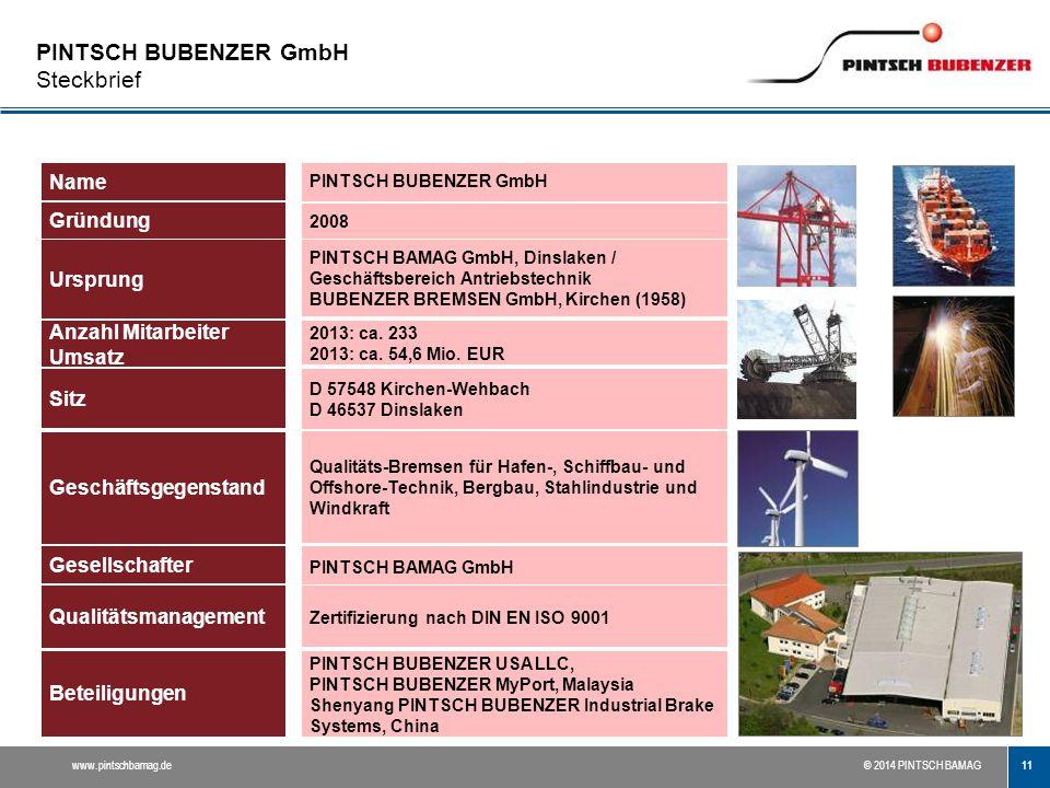 PINTSCH BUBENZER GmbH Steckbrief
