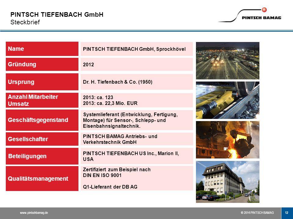 PINTSCH TIEFENBACH GmbH Steckbrief