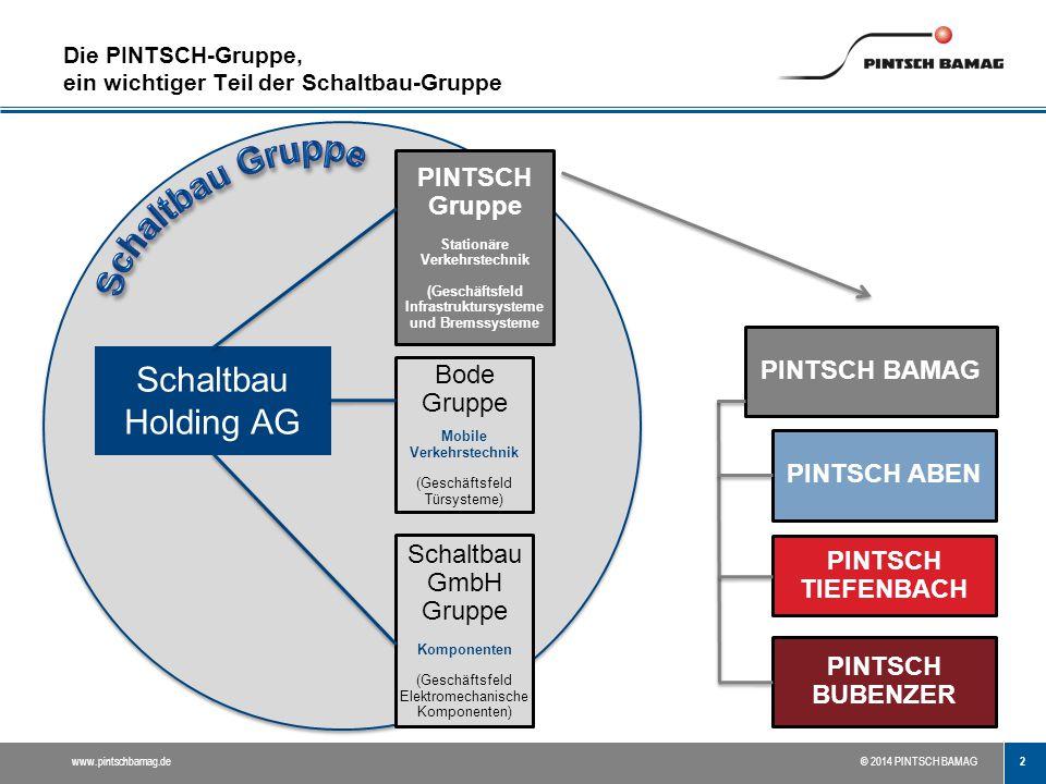 Die PINTSCH-Gruppe, ein wichtiger Teil der Schaltbau-Gruppe
