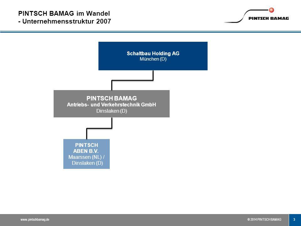 PINTSCH BAMAG im Wandel - Unternehmensstruktur 2007