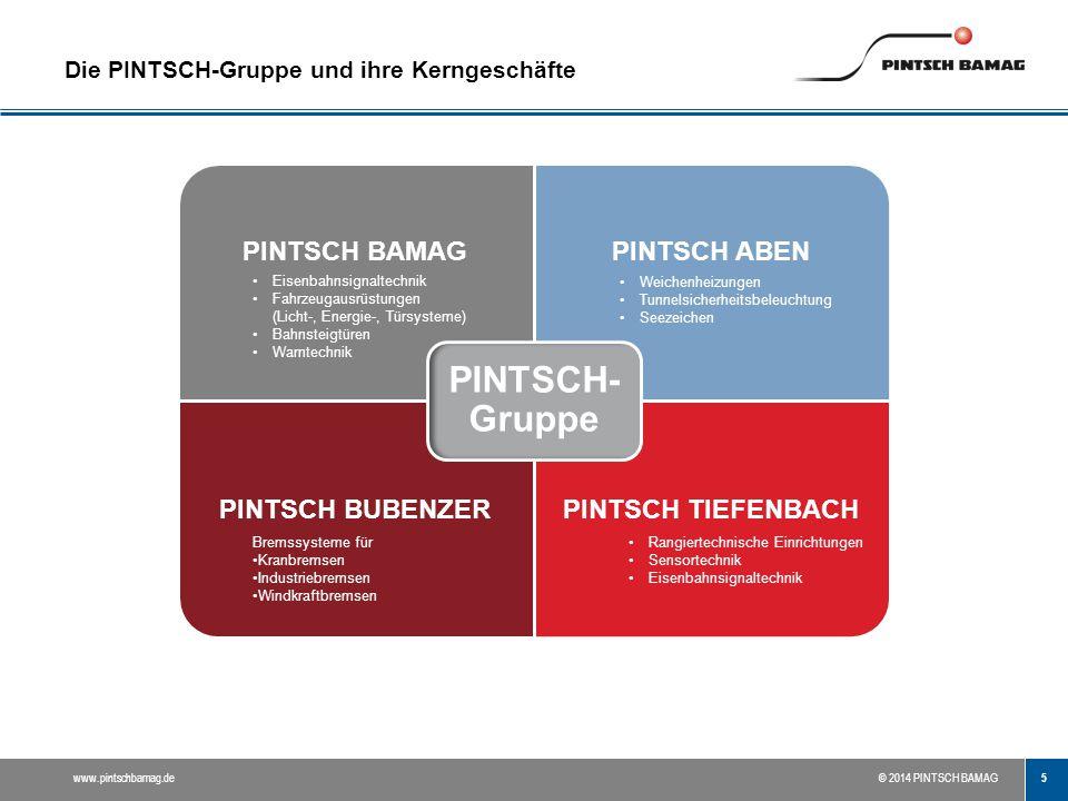 Die PINTSCH-Gruppe und ihre Kerngeschäfte