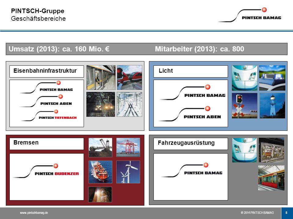 PINTSCH-Gruppe Geschäftsbereiche