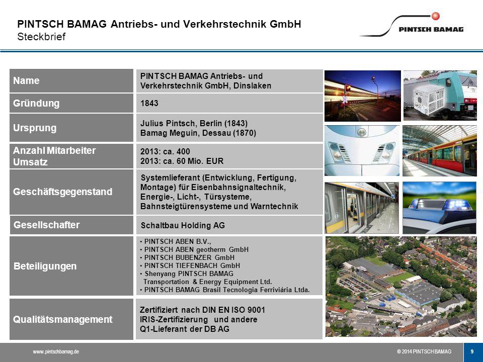 PINTSCH BAMAG Antriebs- und Verkehrstechnik GmbH Steckbrief