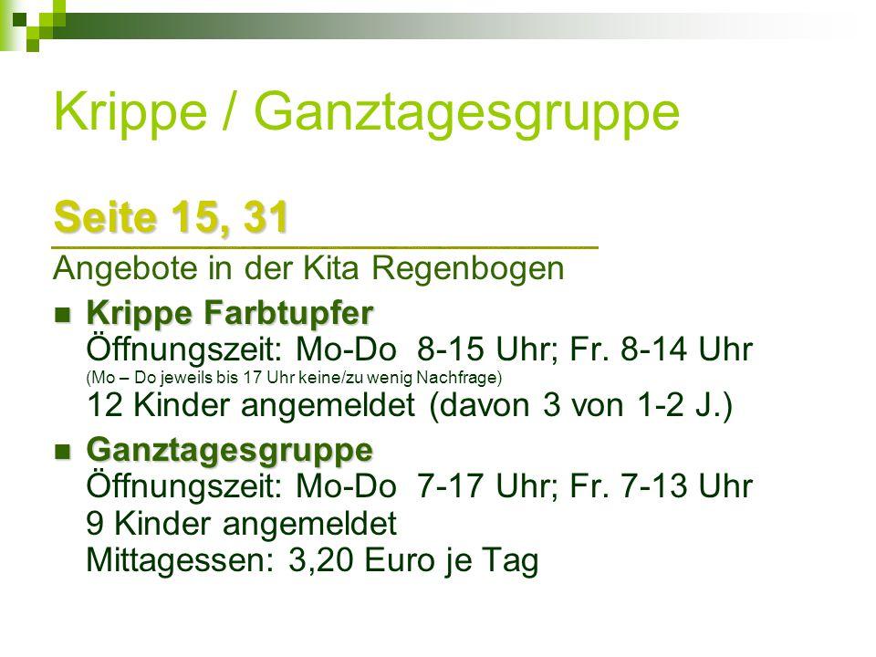 Krippe / Ganztagesgruppe