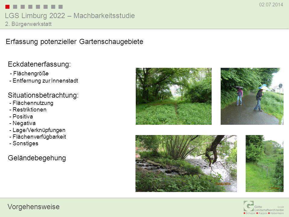 Erfassung potenzieller Gartenschaugebiete
