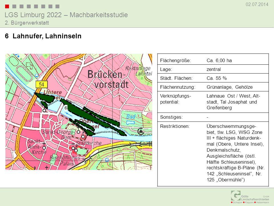 6 Lahnufer, Lahninseln Flächengröße: Ca. 6,00 ha Lage: zentral