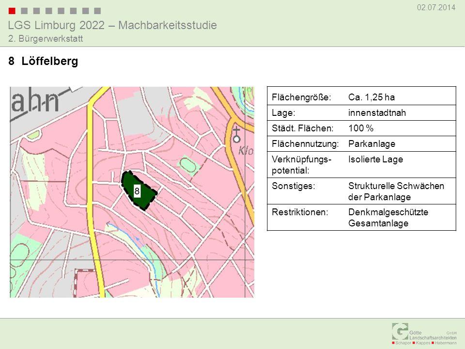 8 Löffelberg Flächengröße: Ca. 1,25 ha Lage: innenstadtnah