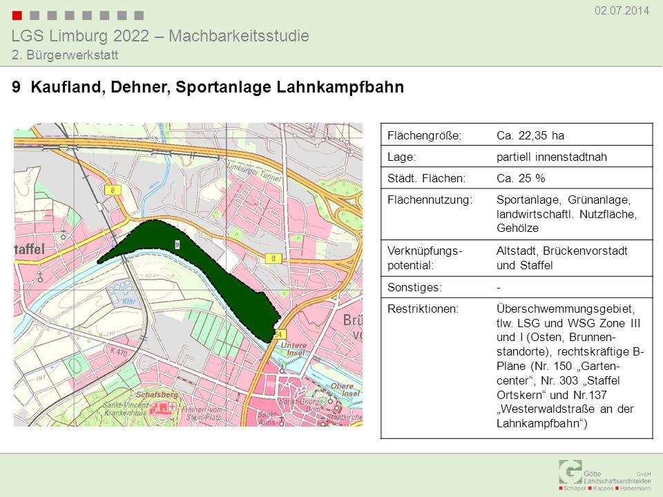 9 Kaufland, Dehner, Sportanlage Lahnkampfbahn