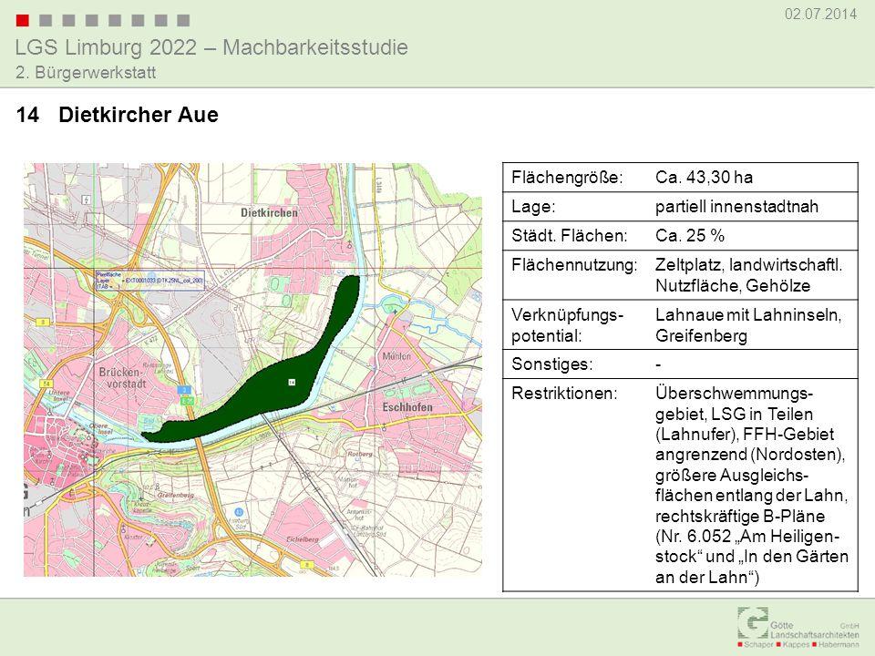 14 Dietkircher Aue Flächengröße: Ca. 43,30 ha Lage: