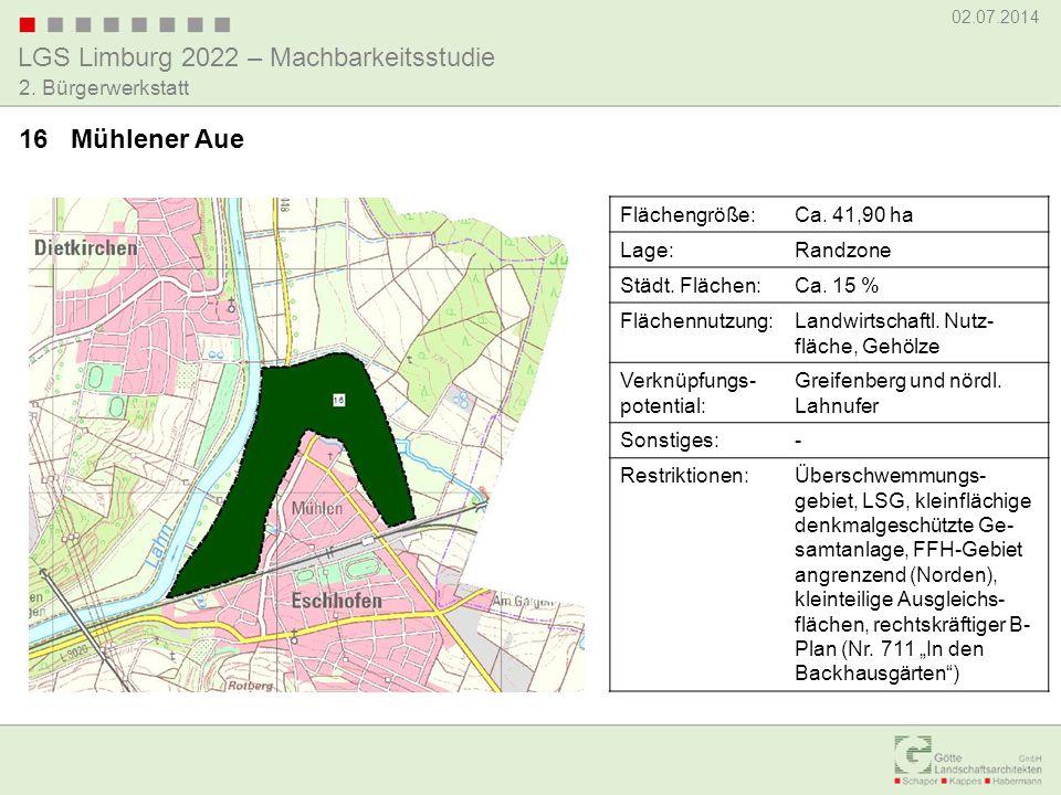 16 Mühlener Aue Flächengröße: Ca. 41,90 ha Lage: Randzone
