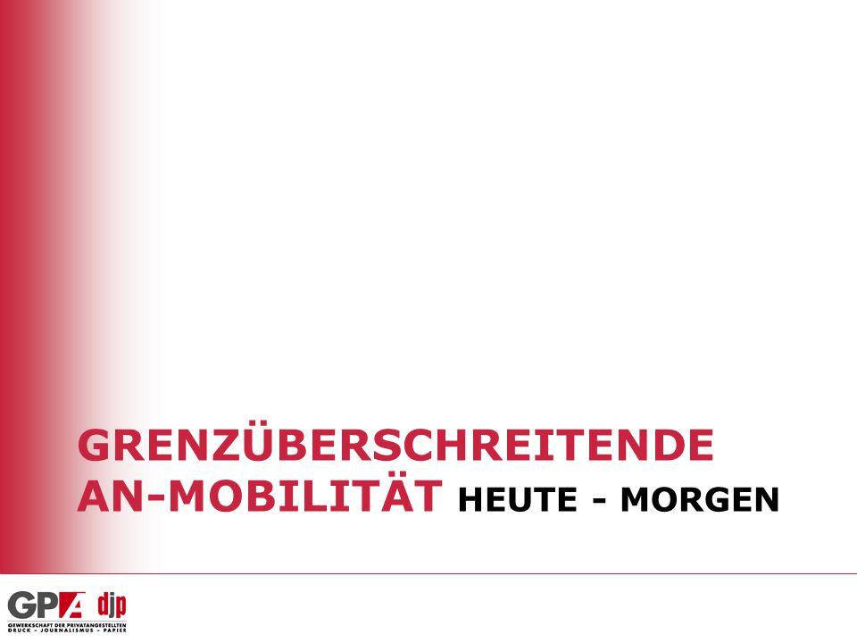 Grenzüberschreitende AN-Mobilität heute - morgen