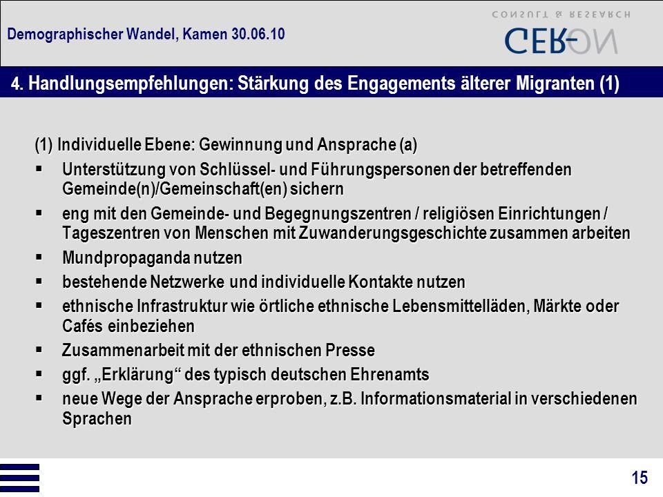 Demographischer Wandel, Kamen 30.06.10