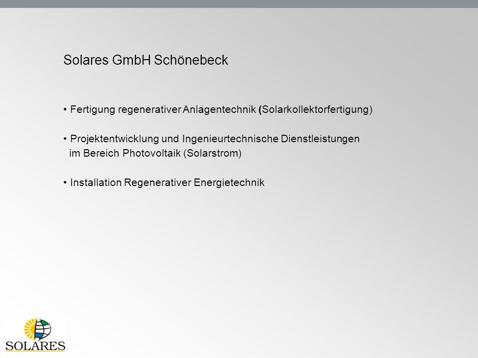 Solares GmbH Schönebeck