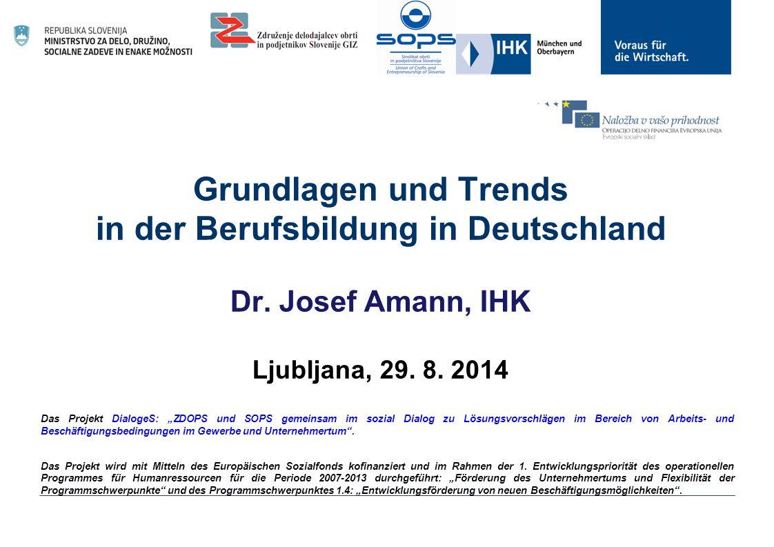 Grundlagen und Trends in der Berufsbildung in Deutschland Dr