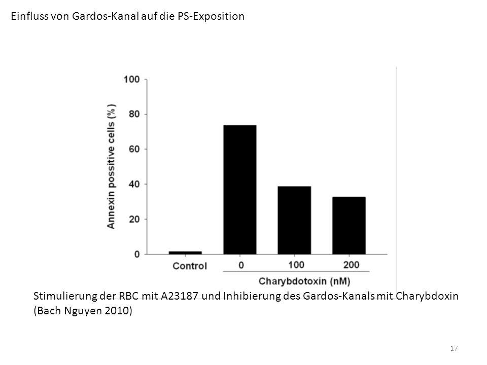 Einfluss von Gardos-Kanal auf die PS-Exposition