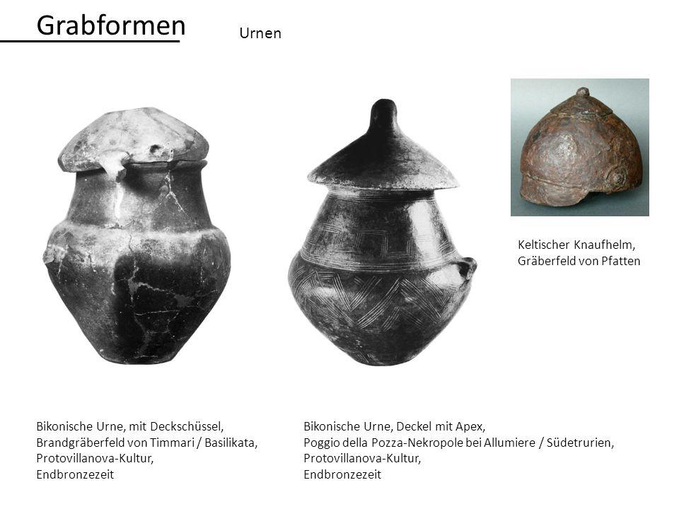 Grabformen Urnen Keltischer Knaufhelm, Gräberfeld von Pfatten