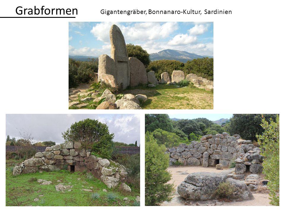 Grabformen Gigantengräber, Bonnanaro-Kultur, Sardinien