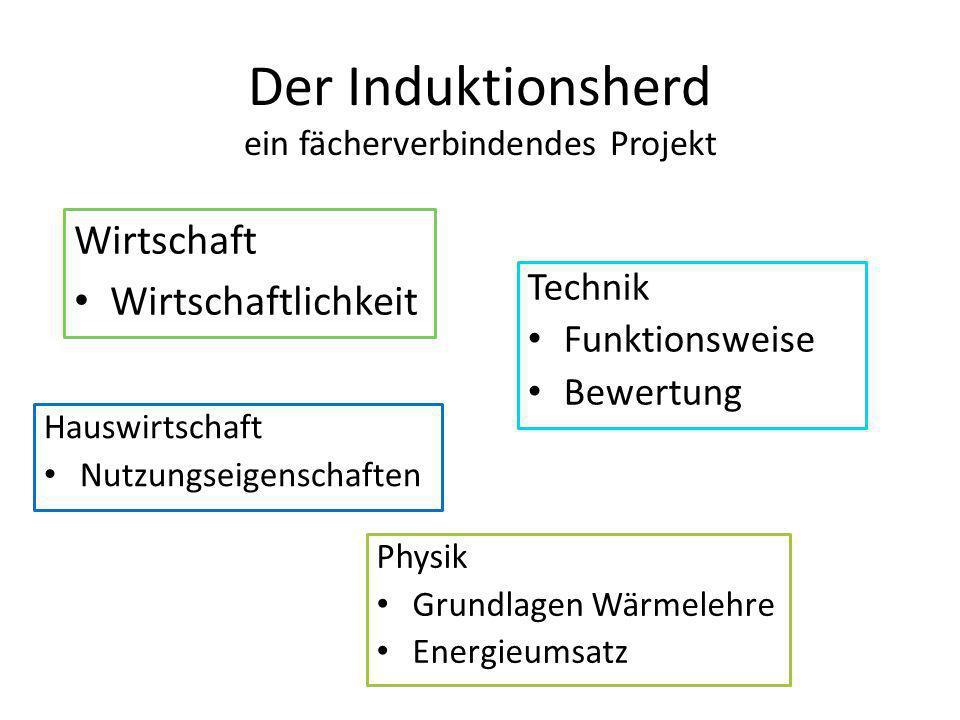 Der Induktionsherd ein fächerverbindendes Projekt