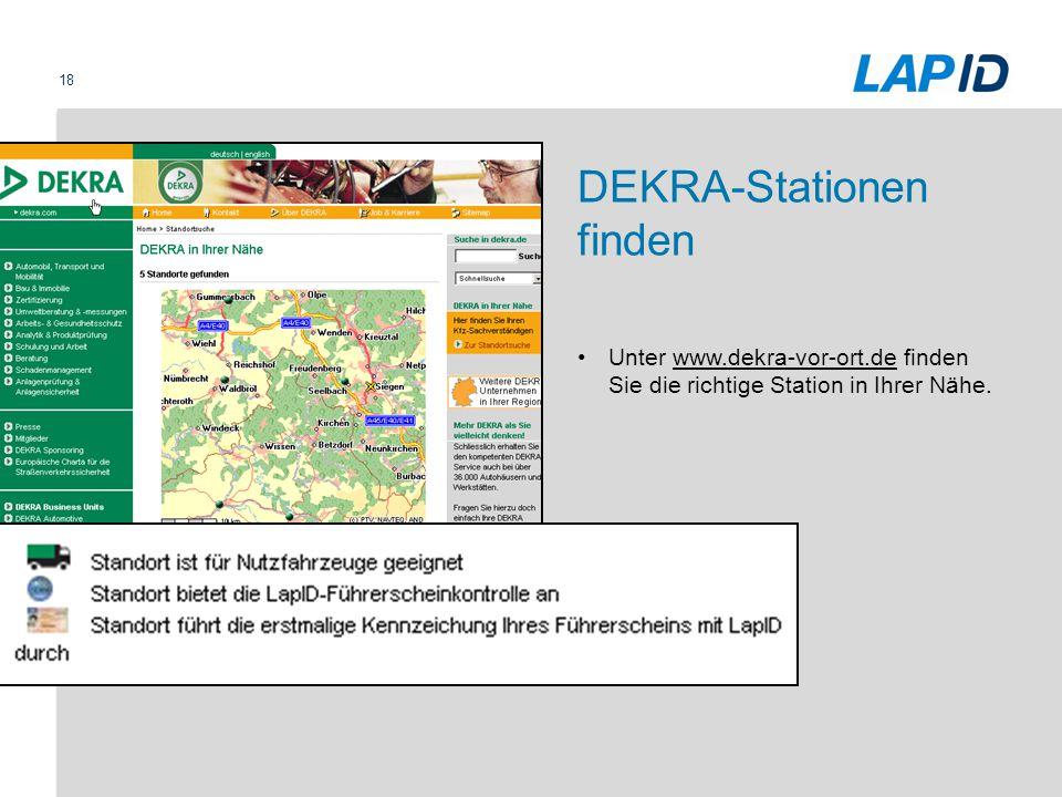 DEKRA-Stationen finden