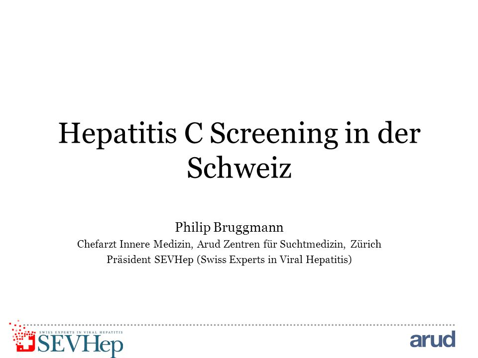 Hepatitis C Screening in der Schweiz