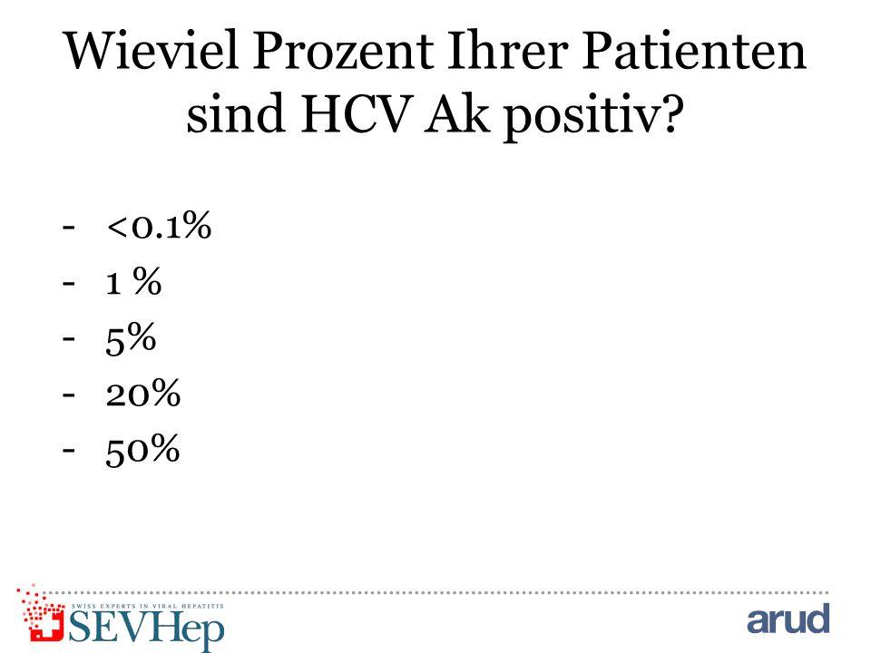 Wieviel Prozent Ihrer Patienten sind HCV Ak positiv