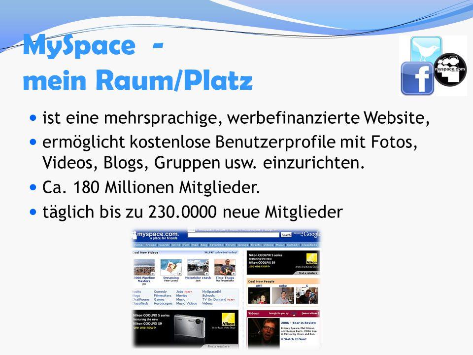 MySpace - mein Raum/Platz