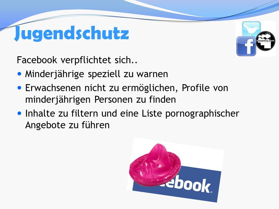 Jugendschutz Facebook verpflichtet sich..