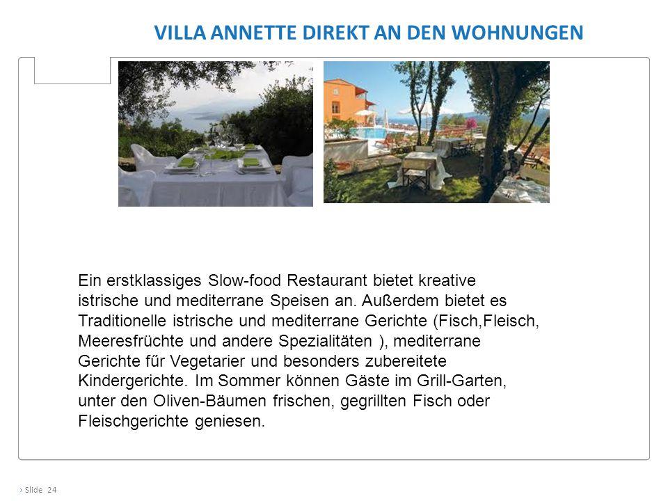 Villa Annette direkt an den Wohnungen