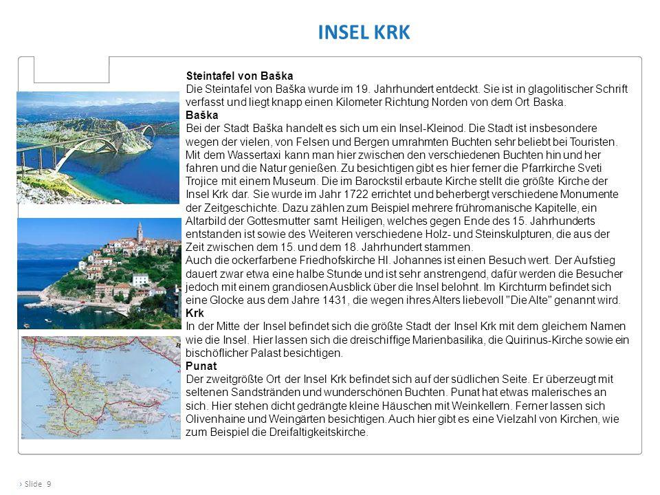 Insel Krk Steintafel von Baška