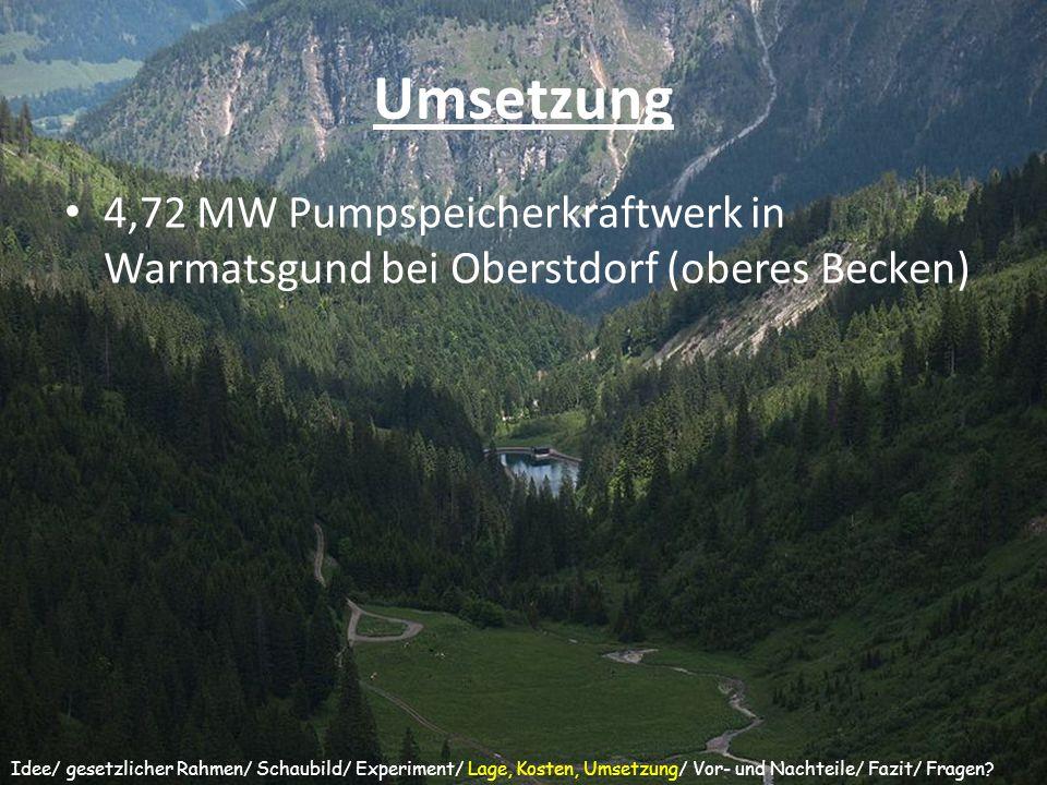 Umsetzung 4,72 MW Pumpspeicherkraftwerk in Warmatsgund bei Oberstdorf (oberes Becken)