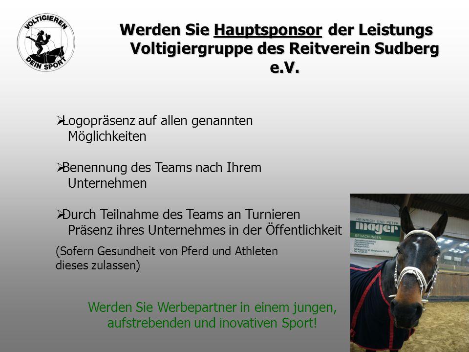 Werden Sie Hauptsponsor der Leistungs Voltigiergruppe des Reitverein Sudberg e.V.