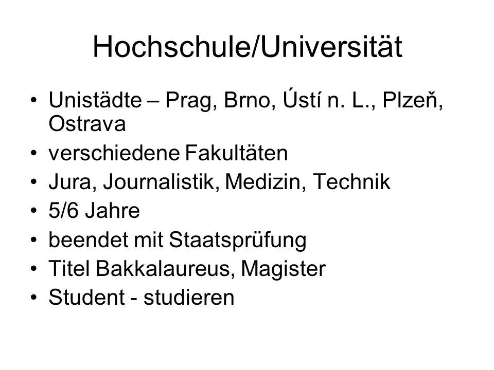 Hochschule/Universität