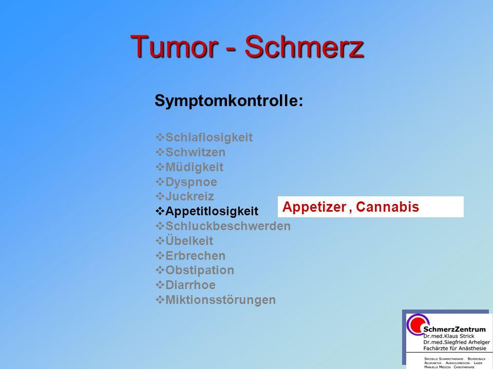 Tumor - Schmerz Symptomkontrolle: Appetizer , Cannabis Schlaflosigkeit