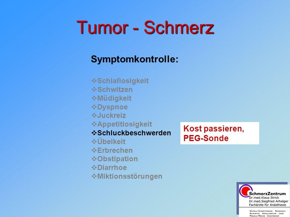 Tumor - Schmerz Symptomkontrolle: Kost passieren, PEG-Sonde