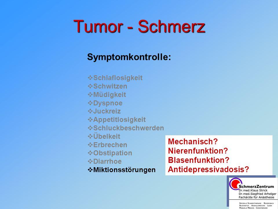 Tumor - Schmerz Symptomkontrolle: Mechanisch Nierenfunktion