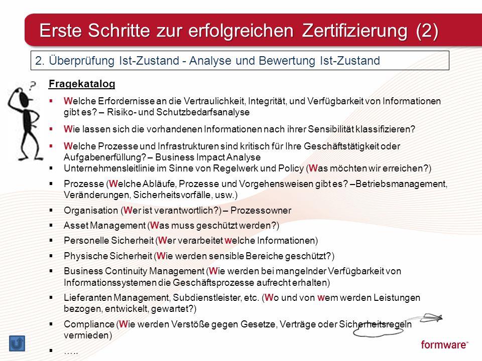 Erste Schritte zur erfolgreichen Zertifizierung (2)