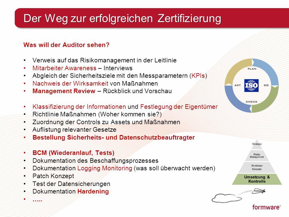 Der Weg zur erfolgreichen Zertifizierung