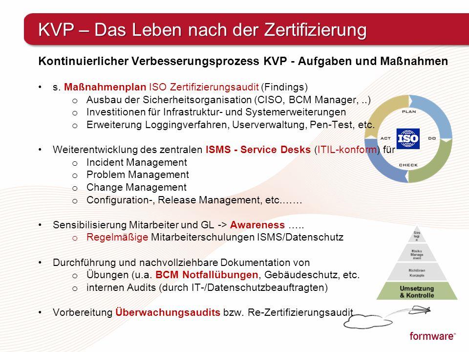 KVP – Das Leben nach der Zertifizierung