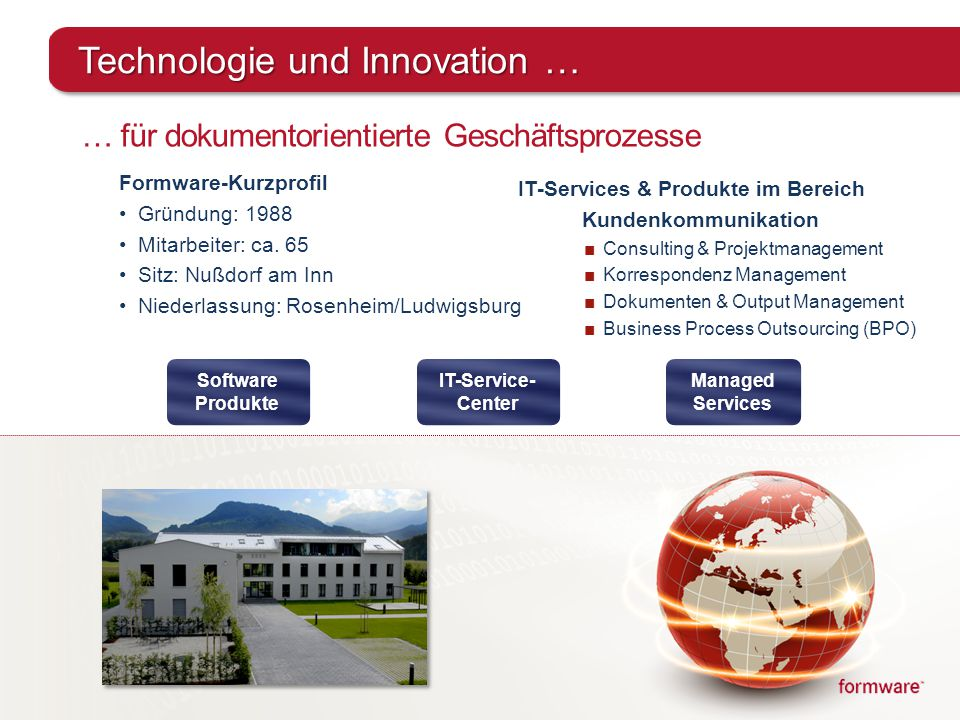 Technologie und Innovation …