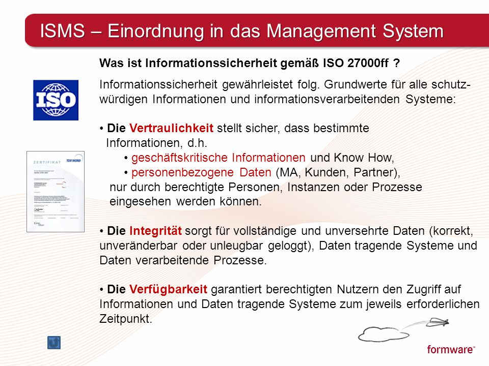 ISMS – Einordnung in das Management System