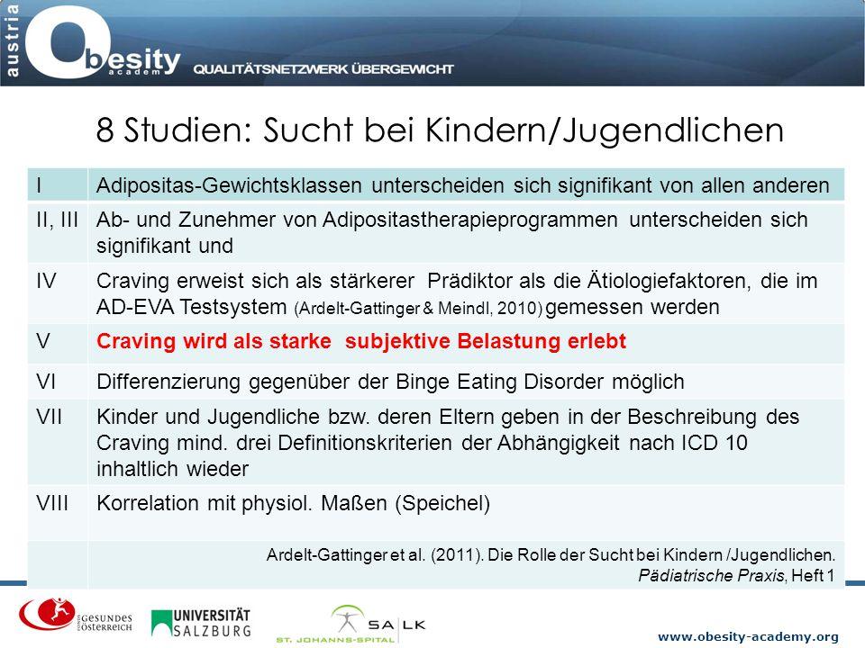 8 Studien: Sucht bei Kindern/Jugendlichen
