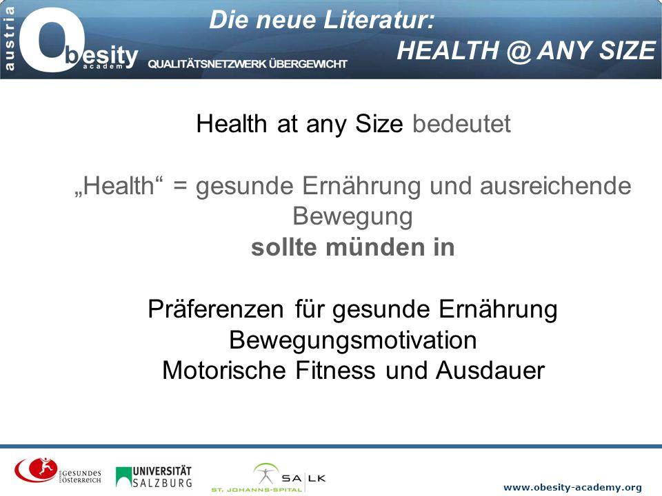 Die neue Literatur: HEALTH @ ANY SIZE.