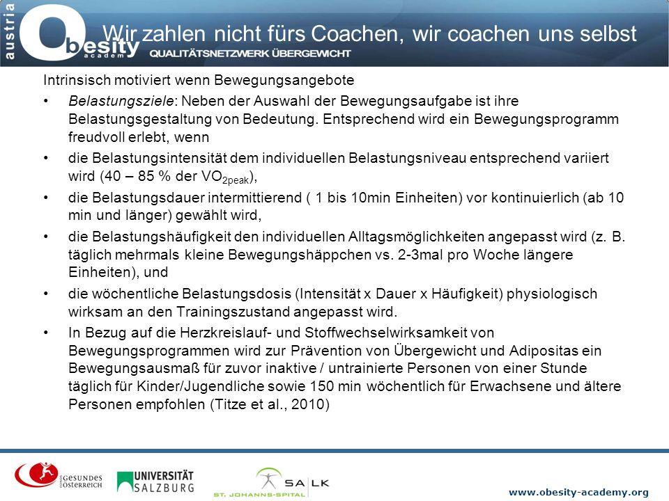 Wir zahlen nicht fürs Coachen, wir coachen uns selbst
