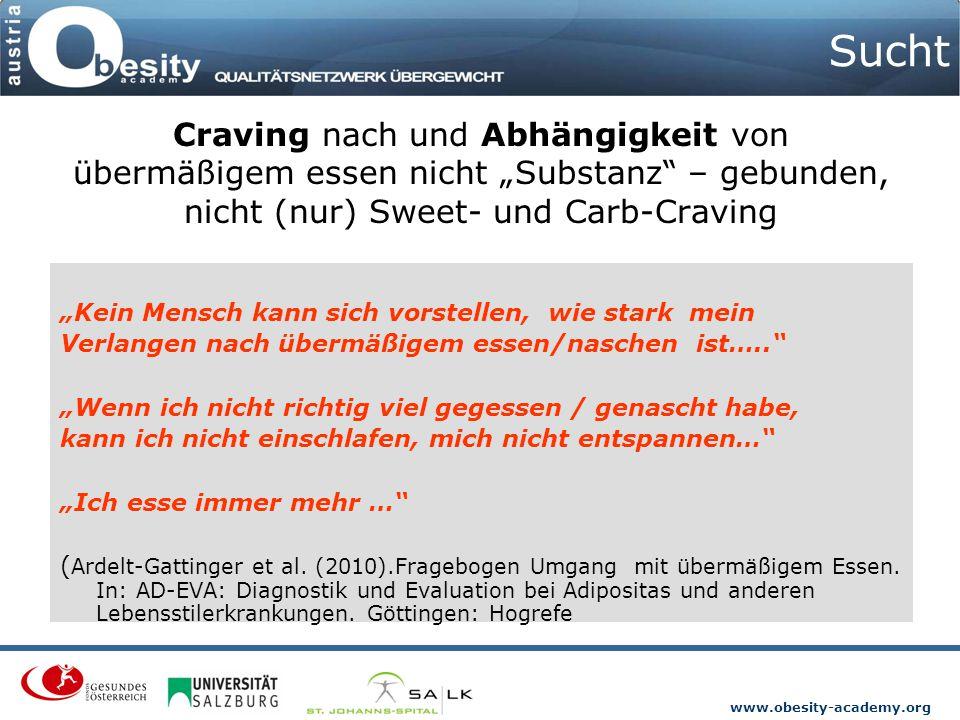 """Sucht Craving nach und Abhängigkeit von übermäßigem essen nicht """"Substanz – gebunden, nicht (nur) Sweet- und Carb-Craving."""